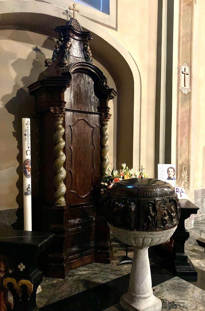 Fonte Battesimale nella Chiesa di Villatico