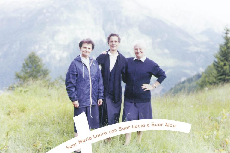 Suor Maria Laura con Suor Lucia e Suor Alda